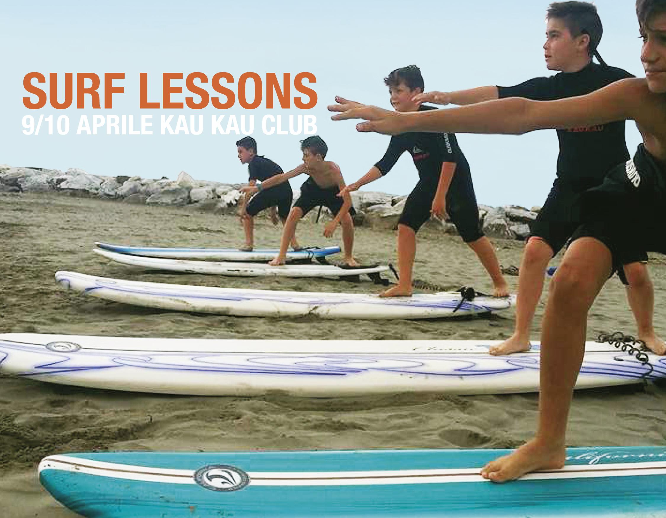 lezione di surf kaukauu