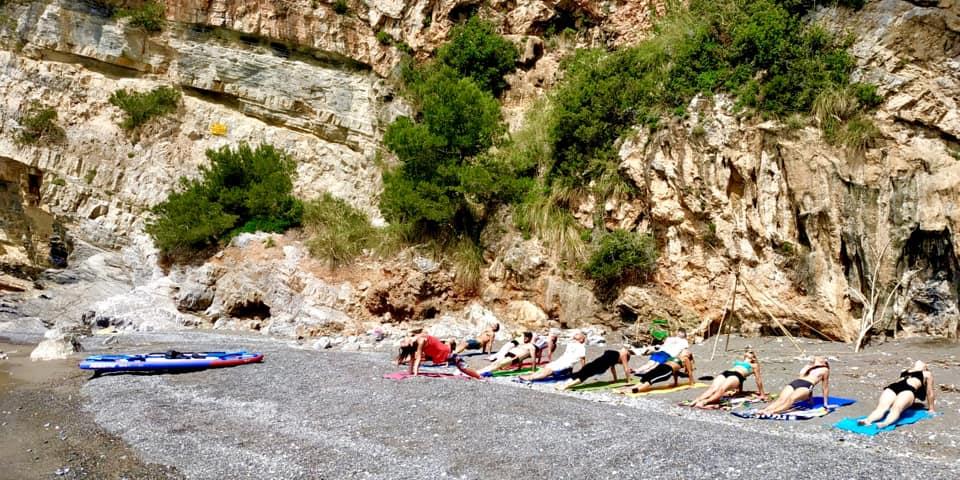 yoga sup tour giugno in Palmaria