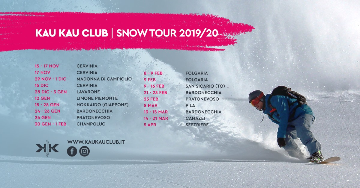 kau kau club snow tour 2019 2020